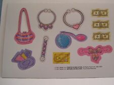 BARBIE DOLL CARDBOARD ACCESSORY CUTOUT SHEET MATTEL LOT OF 4 NEW UNPUNCHED