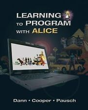 Learning to Program with Alice (w CD ROM) (3rd Edition)
