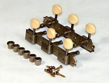 """Factory Aged Gotoh Vintage Style Tuners fit Gibson, others - 3x3 """"On a Plate"""""""