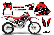 Honda Graphic Kit AMR Racing Bike Decal XR 400 Decal MX Parts 96-04 ATTACK RED