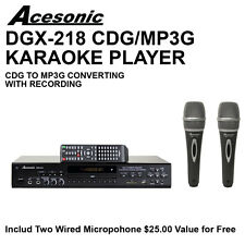 Acesonic DGX-218 CDG DVD Karaoke Player with MP3G Ripping Two Wired Microphone