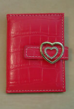Russ - Photo/Credit Card Holder - Pink with Heart Clasp