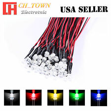 5x5 25pcs 5mm Flat Top Pre-Wired White Red Blue Light DC 9-12V LED Mix Kits