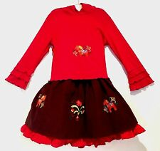 Custom Boutique 7 8 9 Couture Swedish Dala Horse Euro Hoodie Top Skirt Set $325