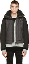 DIESEL W-FRANKIE GREY QUILTED JACKET SIZE L 100% AUTHENTIC