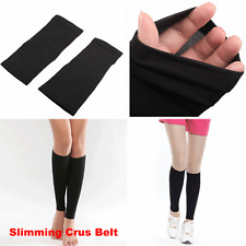 Ladies Magic Slimming Crus Leg Calorie Off Slim Stretch Elastic Shaper Belt BLK