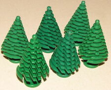 LEGO LOT OF 6 NEW LARGE GREEN PINE TREES CHRISTMAS TREE PIECES