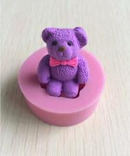 3D Teddy Bear Silicone Cake Mould Fondant Cake Topper Modelling Tools