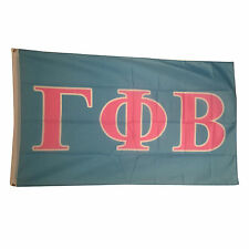Gamma Phi Beta Light Blue/Light Pink Letter Flag 3' x 5'