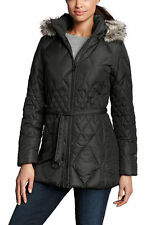 Eddie Bauer Women Winter Down Parka Jacket plus size 3X 3XL Black ski New