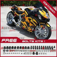Painted yellow Fairing + Tank Cover Seat kit Suzuki Hayabusa GSX1300R 97-07 77