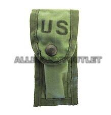 US Military 9MM Pistol Ammo Mag POUCH w/ (2) ALICE Clips OD Green MINT