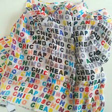 MOSCHINO Cheap & Chic Silk Lettering Scarf BNWT