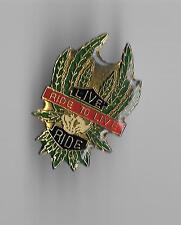 Vintage Live to Ride Pot Leaf Marjuana Plant motorcycle old enamel pin