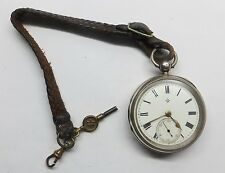 Antique Silver Pocket Watch Roberts & Owen Carnarvon