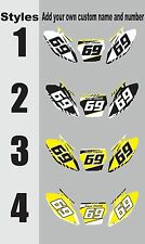 1993-1995 Suzuki RM125 250 RM 125 250 Number Plates Side Panels Graphics Decal