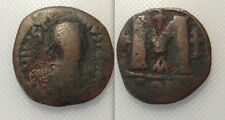 Collectable Byzantine Bronze Coin Of Justin I (AD 518/527) Constantinoplois