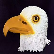 Adult Latex Bald Eagle Mask Patriotic Halloween Bird Full Head Archie McPhee