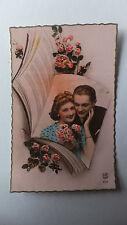 AK Nostalgie Liebespaar Rosen Edition de Luxe Paris