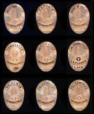 Lot~Set of 9 Los Angeles mini Metal Police Badge~NEW!~Shield~Cops~Lapel Pin~LAPD