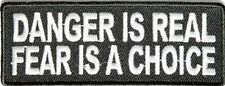DANGER IS REAL FEAR... NEW .QUALITY FUN Club Motorcycle NEW Biker Patch PAT-3246