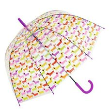 Susino Clear Automatic Dome Walking Umbrella - Dachshund Sausage Dogs