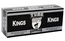 5 (Five) Gambler Tube Cut Silver King Size Cigarette Tubes 200ct box RYO