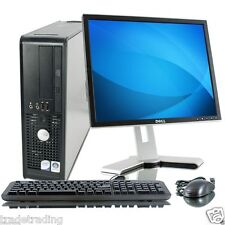WINDOWS 7 FULL DELL COMPUTER DESKTOP TOWER SET PC  RAM 160GB HDD WIFI BARGAIN