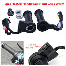22mm 7/8'' Universal Motorcycle Quad Quick Heated Handlebars Hand Grips Warm