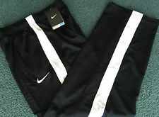 NWT Nike Boys YLG Black/White Side Stripe Micro Mesh Dri-Fit Pants Large