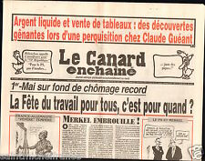 CANARD ENCHAINÉ Birthday Newspaper JOURNAL NAISSANCE 30 AVRIL APRIL 2013