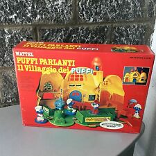 Vintage 1982 MATTEL Magic Talk Smurf Village With Figures  Villaggio Puffi#NIB