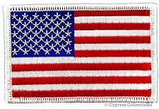 AMERICAN FLAG MOTORCYCLE VEST BIKER PATCH WHITE RIGHT embroidered iron-on US USA