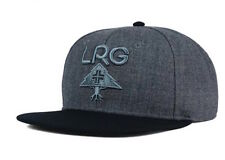 "RETRO LRG ""Research Group"" Snapback Cap (Charcoal/Blk/Heather) Adjustable Hat"