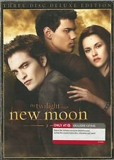 THE TWILIGHT SAGA NEW MOON 3 DISC (2010) DVD BRAND NEW SEALED WITH SLIPCOVER