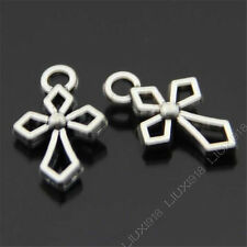20x Retro Tibetan Silver Cross Pendant Charms Bead Findings Accessories B450P