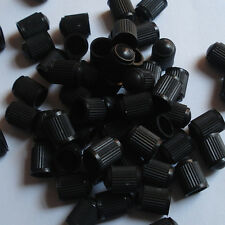 50Pcs Black Plastic Auto Car Truck Wheels Tire Valve Air Dust Cover Stem Cap