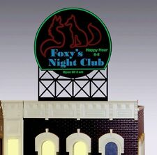 FOXY NIGHT NIGHT CLUB ANIMATED NEON SIGN FOR O SCALE-LIGHTS, FLASHES & MORE