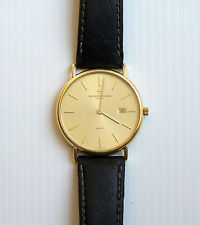 VACHERON CONSTANTIN VERY FINE & RARE FLAT 18ct YELLOW GOLD MENS WRISTWATCH WATCH