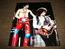 VTG Queen Freddie Mercury Brian May Live 8x10 Color Photo Rock Roll Music