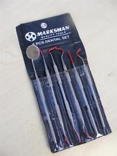 6pc Kit de herramientas de dentista Dental espejo de los dientes limpios Pick inspección Marksman