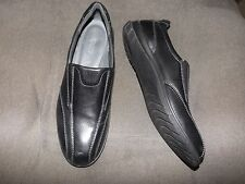 ECCO men's black leather shock point slip on loafer shoes size 42 (9M) (NEW)