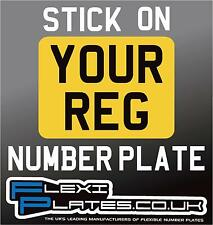 "7"" x 5"" Stick On Self Adhesive Number Plate - Track Race Reg Road Car Motorbike"