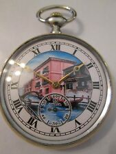 ANTIQUE Ω OMEGA OLD TOWN VIEW DIAL pocket WATCH 15 jewels SWISS made, CAL. 18LPB