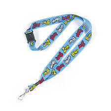 12 Bright Colored Super Hero Superhero Lanyards Party Favor BIRTHDAY PARTY