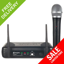 Skytec Single 1 Channel VHF Wireless Handheld Radio Karaoke PA Microphone System
