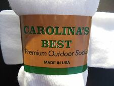 Carolina's Best Made In USA White Tube Socks 6 Pairs Size 10-13