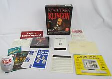 Star Trek Klingon Learn or Die PC CD Rom - Speak Alien Language Big Box - 3 CD's