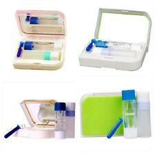 Contact Lens Kit Case Suction Remover Double Head Bottle Holder Cleaning Washer