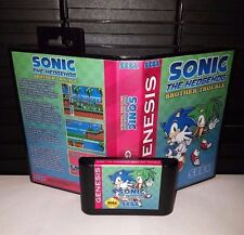 Sonic the Hedgehog - Brother Trouble Video Game for Sega Genesis! Cart & Box!